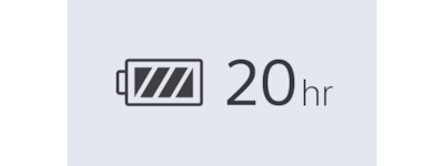 WI=C400 20hr battery icon