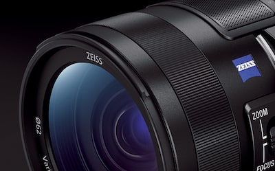 Cropped close up of Zeiss Lens