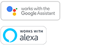 Google Assistant built-in 及內置 Amazon Alexa 標誌
