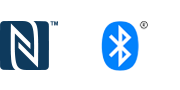 Bluetooth® and NFC logos