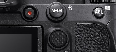 Image of multiple buttons on the camera's back
