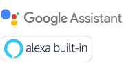 Google Assistant 和 Alexa built-in 的標誌