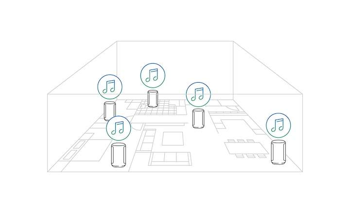 Illustration of same room music