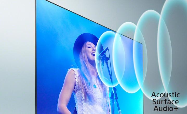 Image of singer at a concert