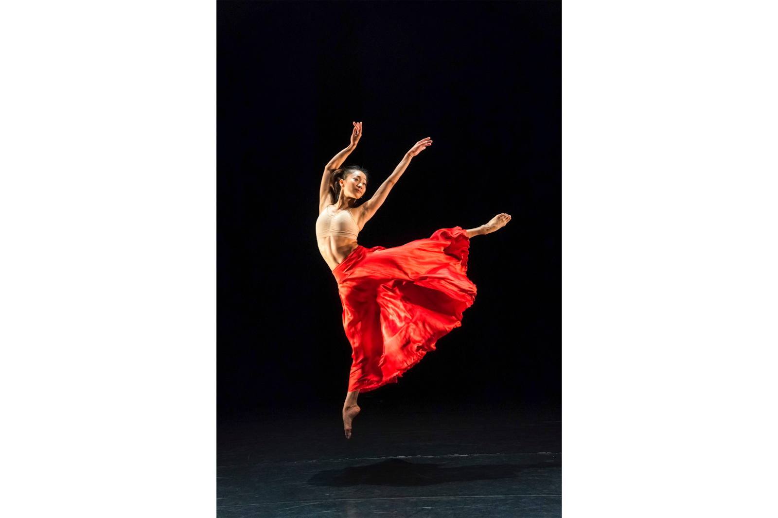 female contemporary dancer in jump alpha 9